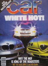 Car 05/1996 featuring Lamborghini, VW Golf GTi, BMW, MGF, Porsche, Rover, Saab