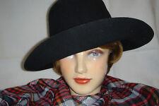 Damen Hut, schwarz, Filz  Gr. 56, ca. 70er Jahre, Hippie