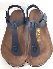 Birkenstock Kairo 147171 size 39 L8-8.5 R Black Birko-Flor Thong Sandals