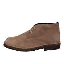 scarpe uomo LUMBERJACK 45 polacchini beige camoscio AD173-B