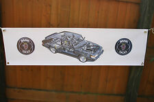 saab 900 turbo large pvc heavy duty WORK SHOP BANNER garage classic SHOW
