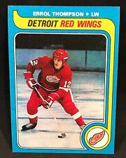1979-80 TOPPS HOCKEY ERROL THOMPSON CARD #106 DETROIT RED WINGS NMT-NMT/MT
