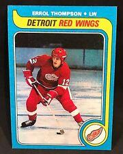 1979-80 TOPPS HOCKEY ERROL THOMPSON CARD #106 DETROIT RED WINGS NMT-NMT/MT