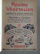 REGIME VEGETALIEN. Coquelet et Tissier. 1914/ EO . numeroté 24