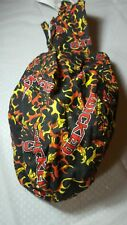 Wicked Flame Pattern Biker Motorcycle Headwrap Skull Cap Doo Rag 100% Cotton 1PC