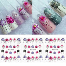 5Pcs Nail Art DIY Water Stickers Transfer Flower Decals Manicure Decoration Tool