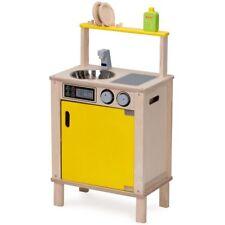 Wonderworld Postazione per Lavare i Piatti Cucina Giocattolo Giochi Legno Giallo