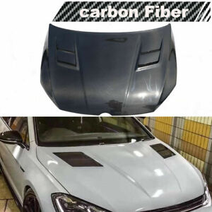 Fit For Volkswagen Golf7 R VII MK7 GTI 14-17 Engine Hood Cover Bonnet Lid Carbon