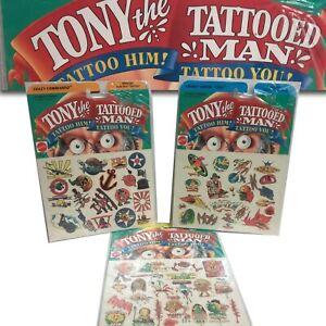 Tony The Tattooed Man Add-Too Tattoos 3 Packs MIP 1993 Mattel RARE VHTF