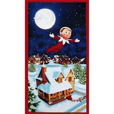"Elf on the Shelf An Elf Story Panel 100% cotton 43"" fabric by panel 24"""
