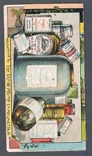 Original 1900's Helmes Snuff Remedy Advertising Trade Card