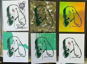 Jermaine Rogers unusual Self Portrait group of six.