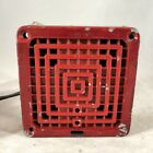 Vintage FCI Fire Control Instruments Electric Horn Alarm HP 1303115B Kidde Red