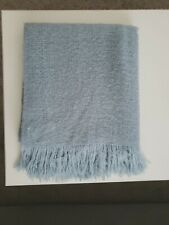 West Elm Blue Lightweight Throw