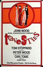 "TRAVESTIES ORIGINAL BROADWAY WINDOW CARD 22"" X 14""  1975 JOHN WOOD TIM CURRY"
