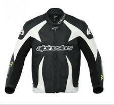 Alpinestars Monster Scream Leather Motorbike Jacket CE Armour Green White 54