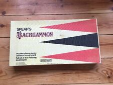Vintage Spears 1980's BACKGAMMON GAME  - Complete VGC - Wooden Pieces