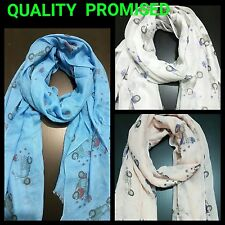 BEAUTIFUL NEW LADIES VESPA SCOOTER  PRINT Scarf,Shawl,high quality summer SCARF