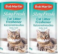BABY SOFT LITTER FRESHENER - 800ml (400ml x2) - Bob Martin bp Cat Tray Powder