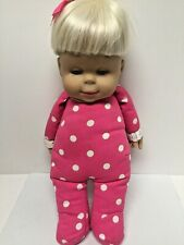 """New listing Vintage 1985 Mattel CLASSIC COLLECTION BLONDE TALKING """"DROWSY  DOLL"""" 15"""" Works"""