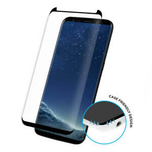 NewTempered Glass Screen Protector Black 3D Samsung Galaxy S9  100% Genuine