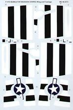 MICROSCALE decalcomanie 1/48 P-47D Bubbletop bianco e Nero Invasione STRISCE -