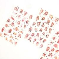 6 X Cartoon Girls Decorative Sticker Diary Album Label Sticker Scrapbook^