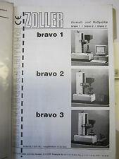 Zoller Bedienungsanleitung Bravo Voreinstellgerät Werkzeugeinstellgrät Kelch 123
