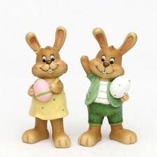 2x poli Conejo de Pascua Huevo SET 18 cm decoración pasuca CÓMIC 25132