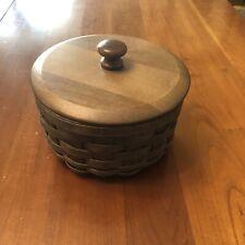 Longaberger Round Coaster Basket Set - Deep Brown