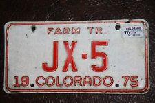 1974  /  1975 COLORADO  License Plate  *** FARM TR ***