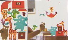 Animaux De Zoo autocollants murales ENFANTS / bébé sticker artistique