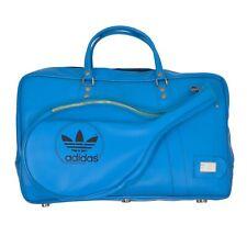 VINTAGE Adidas Tennistasche Bag Blau Blue '80s Retro Badminton Koffer Old School