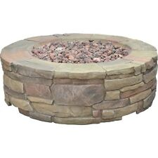 "Outdoor Fire Pit  36"" Patio Yard Gas Heater Bond Petra Stone Campfire Deck New"
