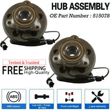 2 Front Pair Wheel Hub Bearing Assembly For Ford Explorer 2006-2010 HB615080PR