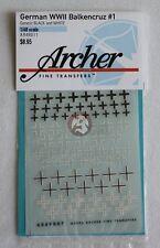 Archer 1/48 Balkenkreuz (Iron Cross) Markings Mix #1 German Armor WWII AR49011