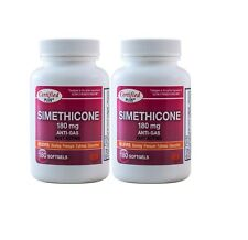 Simeticone 180 mg Gas Relief  GLUTEN FREE for Trapped Wind 360 Gelcaps
