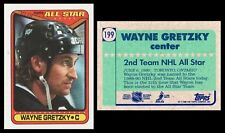 WAYNE GRETZKY ALL-STAR - 1990 TOPPS # 199 - HALL OF FAME - MINT! - THE GREAT ONE