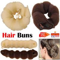 2pcs Set Hair Bun Maker Doughnut Roll Ring Magic Shaper Sponge French Twist Tool