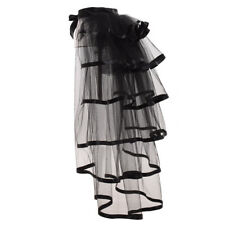 Blessume Women Black Tie-on Bustle Victorian Vintage Tutu Belt Lace Underskirt