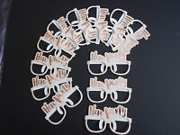 12 x HEN PARTY GLASSES PINK GOLD HEN NIGHT PARTY ACCESSORIES, NOVELTIES FAVOURS