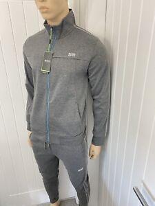 Hugo Boss Full Tracksuit Zipped Jacket & Pant Mens Bnwt Grey Medium £119