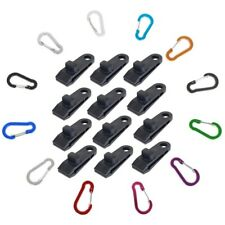 OADAA 10PCS Tarp Clips Awning Clamp with Snap Hangers Fixed Plastic Clip for Outdoors Camping Garden Tent
