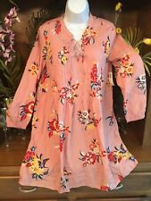 "NWT OLD NAVY FLORAL ""MatidaJane KAIA STYLE PRINT"" LACE UP YOKE PINTUCK DRESS S-M"