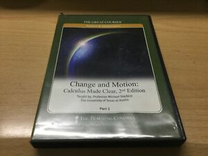 the great courses change & motion  calculus made clear 2nd edition p1 p2 dvds