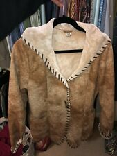 Prana Womens Fur Coat Size Large Perfect Condition!