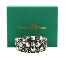 "THORSON HOSIER ""BLACK DIAMOND"" CUFF BRACELET SWAROVSKI NEW $395 USA ORIGINAL BOX"