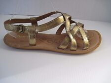 BORN Gold Metallic  Leather Sandals  Ankle Strap Size 11, Excellent Condition!