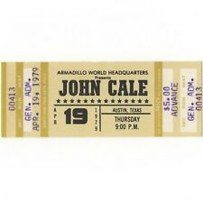 JOHN CALE Concert Ticket Stub AUSTIN 4/19/79 ARMADILLO VELVET UNDERGROUND Rare