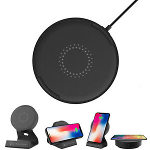 Hitachi LG Wireless Charger Pad 15W iPhone Samsung Stand Fast Power Bank 9.4 oz